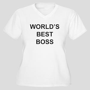 """World's Best Boss"" Women's Plus Size V-Neck T-Shi"