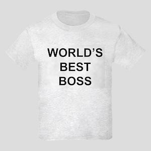 """""""World's Best Boss"""" Kids Light T-Shirt"""