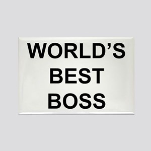 """World's Best Boss"" Rectangle Magnet"