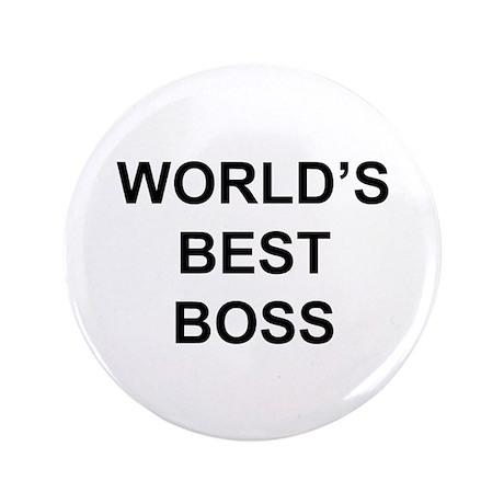 """""""World's Best Boss"""" 3.5"""" Button (10"""