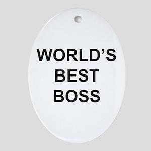 """World's Best Boss"" Oval Ornament"