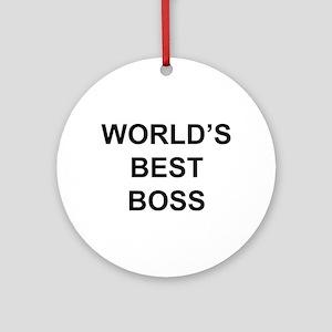 """World's Best Boss"" Ornament (Round)"