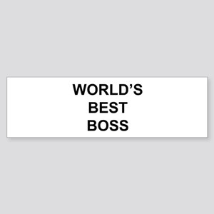 """World's Best Boss"" Bumper Sticker"