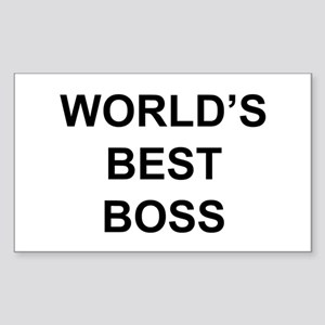 """World's Best Boss"" Rectangle Sticker"