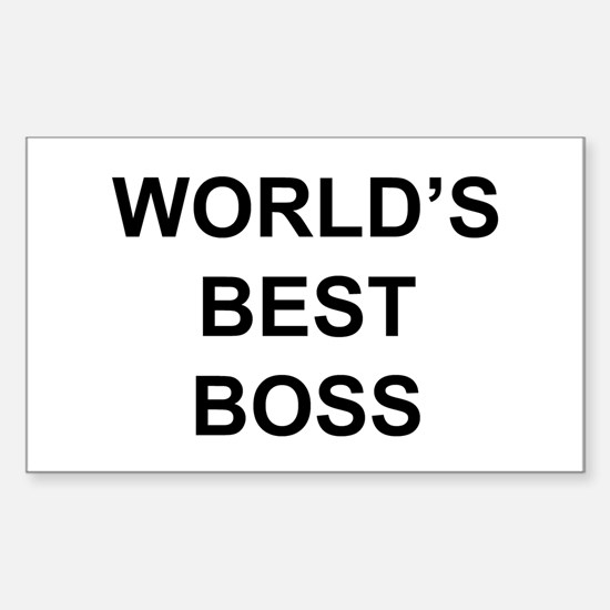 """""""World's Best Boss"""" Rectangle Decal"""
