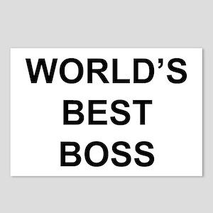 """World's Best Boss"" Postcards (Package o"