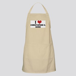I Love Christopher S. Bond BBQ Apron