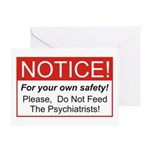 Notice / Psychiatrists Greeting Card