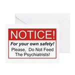 Notice / Psychiatrists Greeting Cards (Pk of 10)
