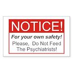 Notice / Psychiatrists Rectangle Sticker 50 pk)