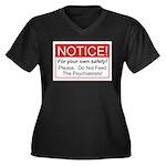 Notice / Psychiatrists Women's Plus Size V-Neck Da