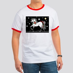 """Silent Night"" Christmas Horse Ringer T"