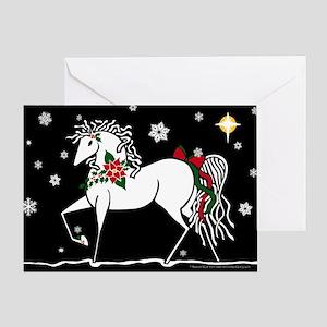 """Silent Night"" Christmas Horse Greeting"