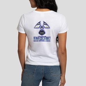 "Human Test Subject blue ""Nuke Women's T-Shirt"