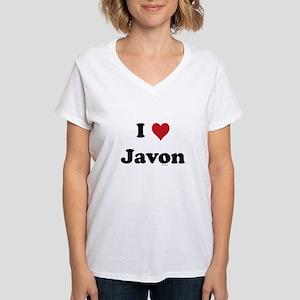 I love Javon Women's V-Neck T-Shirt