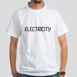 """ELECTRICITY """"Energy Guy"""" White T-Shirt"""