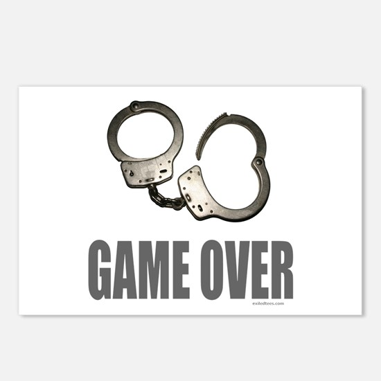 HANDCUFFS/POLICE Postcards (Package of 8)