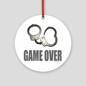HANDCUFFS/POLICE Ornament (Round)