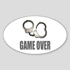 HANDCUFFS/POLICE Oval Sticker