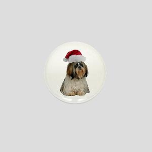 Shih Tzu Christmas Mini Button