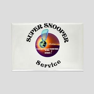Super Snooper Agency. Rectangle Magnet