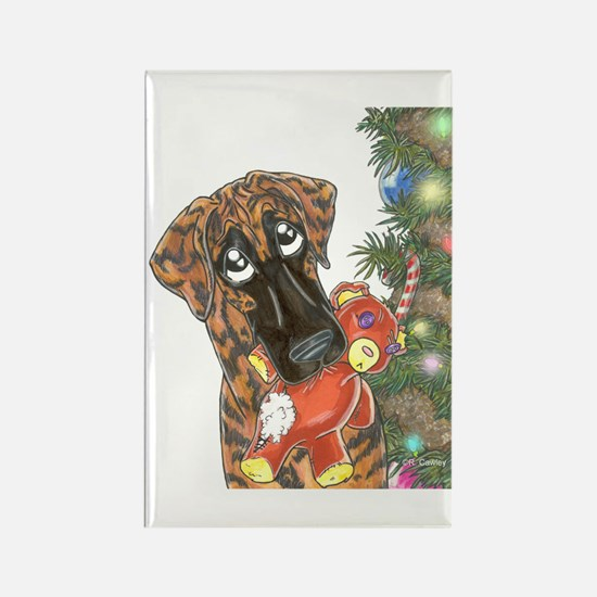 Holiday Nbr Bear Rectangle Magnet (100 pack)