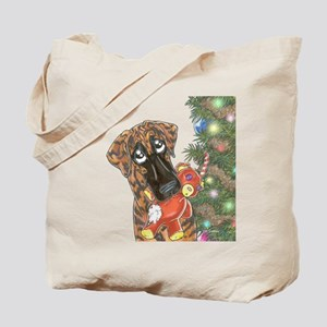Holiday Nbr Bear Tote Bag