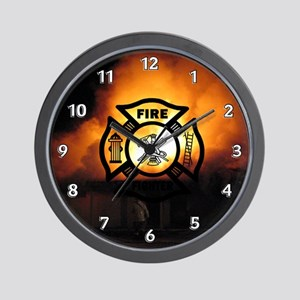 Fire Fighter Photo Wall Clock
