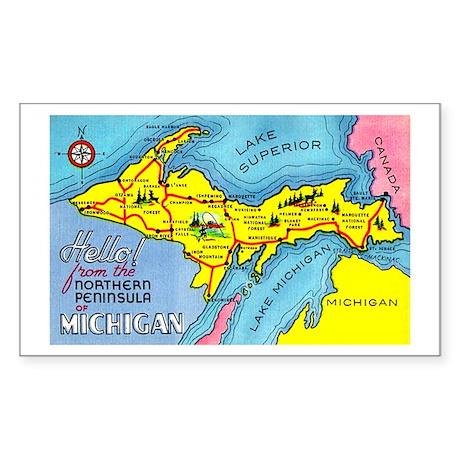 Michigan Northern Upper Peninsula Sticker (Rectang