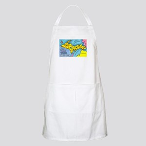 Michigan Northern Upper Peninsula BBQ Apron