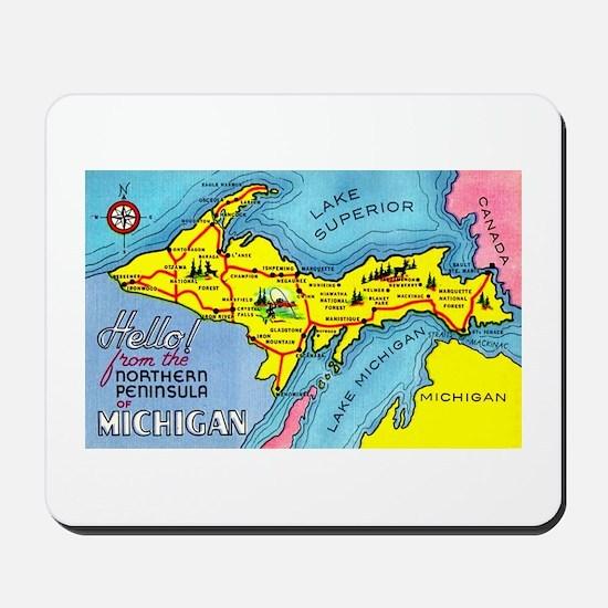Michigan Northern Upper Peninsula Mousepad