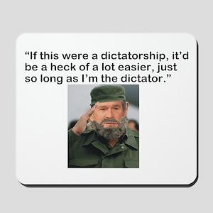BushWacked Bush the Dictator Mousepad