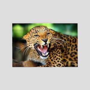Growling Leopard 4' x 6' Rug