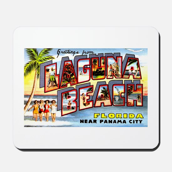 Laguna Beach Florida Greetings Mousepad