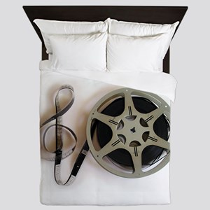 Clef and Film Reel by Leslie Harlow Queen Duvet