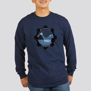 Milford Sound Vintage Long Sleeve Dark T-Shirt