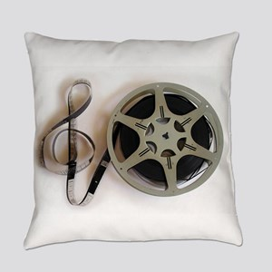 Clef and Film Reel by Leslie Harlo Everyday Pillow