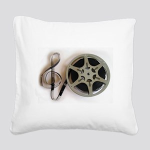 Clef and Film Reel by Leslie Square Canvas Pillow