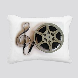 Clef and Film Reel by Le Rectangular Canvas Pillow