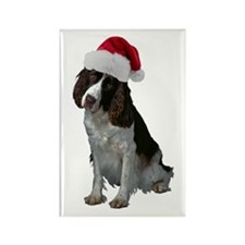 Springer Spaniel Santa Rectangle Magnet