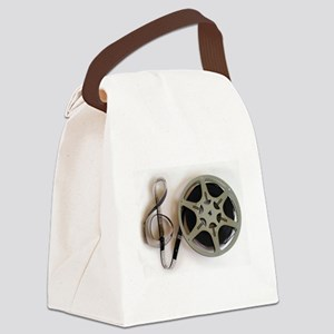 Clef and Film Reel by Leslie Harl Canvas Lunch Bag