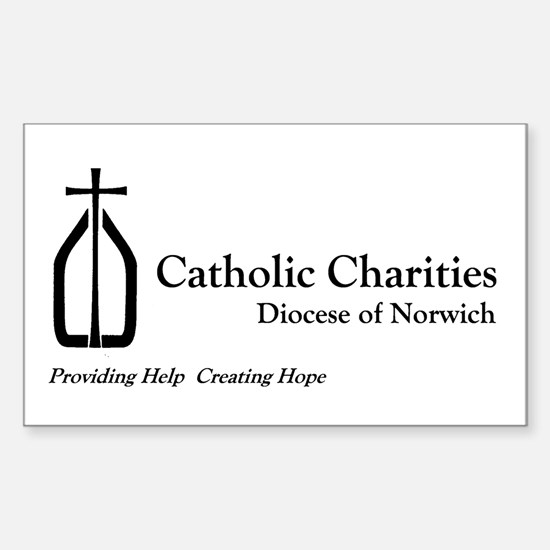 Catholic Charities Norwich Rectangle Decal