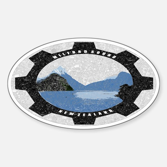 Milford Sound Vintage Oval Decal