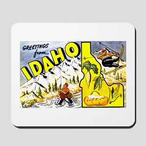 Idaho State Greetings Mousepad