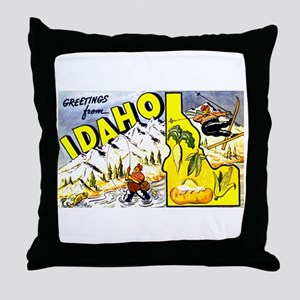 Idaho State Greetings Throw Pillow