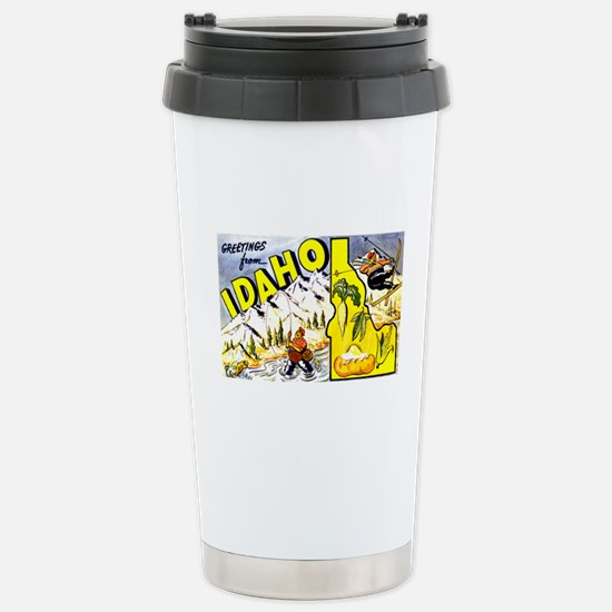 Idaho State Greetings Stainless Steel Travel Mug