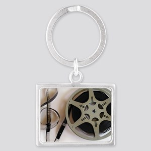 Clef and Film Reel by Leslie Harlow Keychains