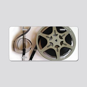 Clef and Film Reel by Lesli Aluminum License Plate