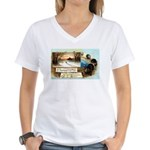 Contentment and Peace Women's V-Neck T-Shirt