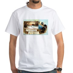 Contentment and Peace White T-Shirt